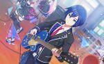 blue_eyes blue_hair dress kaito_(vocaloid3) project_sekai short_hair