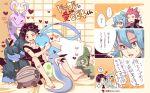 1girl 2boys :> ? altaria arrow_(symbol) axew bandaid bandaid_on_arm bangs barefoot black_shirt blue_hair blush clair_(pokemon) closed_mouth commentary_request cousins earrings ethan_(pokemon) hair_between_eyes heart jewelry lance_(pokemon) long_hair multiple_boys pokemon pokemon_(creature) pokemon_(game) pokemon_egg pokemon_hgss redhead shelgon shirt short_hair shorts sliggoo smile speech_bubble spiky_hair spoken_question_mark sweatdrop toes translation_request xichii zweilous