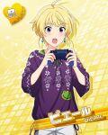 blonde_hair blush character_name dress idolmaster idolmaster_side-m pierre_(idolmaster) please short_hair violet_eyes