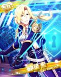 blonde_hair character_name green_eyes idolmaster idolmaster_side-m jacket long_hair sword tsuzuki_kei