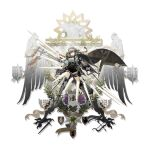 1girl arknights armor bangs black_shorts breasts elite_ii_(arknights) fartooth_(arknights) full_body greaves highres holding holding_weapon long_sleeves looking_at_viewer medium_breasts norizc official_art pouch shirt short_hair short_shorts shorts silver_hair solo standing thigh_strap thighs transparent_background weapon white_shirt yellow_eyes