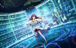 blue_eyes brown_hair dress ichinose_shiki idolmaster_cinderella_girls_starlight_stage long_hair smile