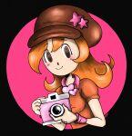 camera g0-g0-mike. highres mona_(warioware) orange_hair warioware