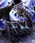 anankos black_hole claws dragon english_commentary extra_eyes fire_emblem fire_emblem_fates miyuki_takahashi monster night night_sky no_humans sky wings