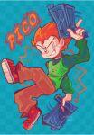 1boy 1girl alternate_universe animated cinna_bu friday_night_funkin' grin gun pico's_school pico_(pico's_school) solo