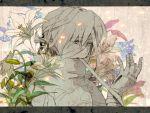 androgynous bandage bandages flower hatihamu nintendo ocarina_of_time petals reverse_trap sheik solo the_legend_of_zelda