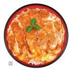 food food_focus katsudon_(food) momiji_mao original plate still_life