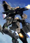 f-15_actv_active_eagle flying gun highres holding holding_gun holding_weapon looking_to_the_side mecha muvluv muvluv_alternative muvluv_total_eclipse no_humans science_fiction sidehiwinder sky solo tactical_surface_fighter thrusters visor weapon