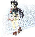 1girl aa_megami-sama black_hair dress long_hair ponytail robot robot_joints roller_skates sigel