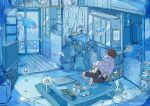 2boys 2girls family fish flower highres husband_and_wife indoors mother_and_daughter mother_and_son mourning multiple_boys multiple_girls nara_lalana original portrait_(object) siblings surreal swimming underwater water