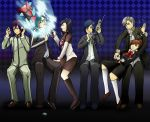 amano_maya arisato_minato blue_eyes blue_hair brown_hair card female_protagonist_(persona_3) glasses hairpin headphones narukami_yuu persona persona_1 persona_2 persona_3 persona_3_portable persona_4 red_eyes school_uniform seta_souji suou_tatsuya toudou_naoya weapon
