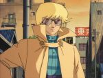 80's asuka_ryou blonde_hair devilman old_school sunglasses