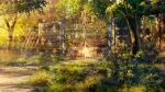 artist_name bush copyright_name copyright_request day fence forest gate grass highres nature no_humans outdoors scenery sunlight tree troncill