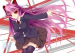 black_legwear black_thighhighs blazer breasts bullet bunny_ears highres large_breasts long_hair necktie negamaro purple_hair rabbit_ears red_eyes reisen_udongein_inaba skirt smile solo thigh-highs thighhighs touhou
