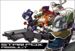 armor blue_eyes blush falco_lombardi flower fox_mccloud gloves gun homa_kura krystal leon_powalski nintendo panther_caroso peppy_hare rose scouter slippy_toad smile star_fox uniform weapon wolf_o'donnell