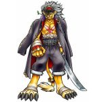 bancholeomon banchouleomon digimon digimon_savers furry gakuran lowres male school_uniform sword tail weapon
