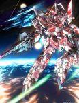 earth energy_beam gun gundam gundam_unicorn mecha nt-d rezel shield space sparkle unicorn_gundam wasabi_(payan) weapon