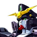 gundam gundam_deathscythe gundam_wing ma-shin mecha simple_background solo