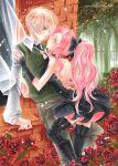 androgynous blonde_hair original pink_hair rose
