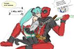 cable_(marvel) crossover deadpool hatsune_miku leek marvel mask spring_onion vocaloid