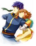 blue_hair brother_and_sister fire_emblem fire_emblem:_souen_no_kiseki fire_emblem_path_of_radiance hair_tubes headband hug ike mist mist_(fire_emblem) nintendo o-yuki siblings smile