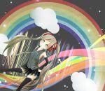 detached_sleeves hatsune_miku long_hair rainbow solo vocaloid