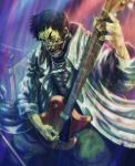4chan black_hair coat death drawfag guitar instrument shin_angyo_onshi shin_angyou_onshi short_hair undead won_sul yellow_eyes zombie