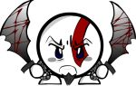 angry blade goatee god_of_war kirby kratos nintendo weapon