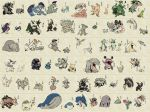 aggron aron azurill beautifly blaziken breloom camerupt carvanha cascoon combusken delcatty dustox electrike exploud faux_traditional_media fine_art_parody gardevoir grovyle gulpin hariyama highres illumise kirlia lairon linoone lombre lotad loudred ludicolo makuhita manectric marshtomp masquerain mawile medicham meditite mightyena minun mudkip name_characters nihonga nincada ninjask no_humans nojo nosepass numel nuzleaf parody pelipper plusle pokemon pokemon_(game) pokemon_rse poochyena ralts roselia sableye sceptile seedot sharpedo shedinja shiftry shroomish silcoon skitty slaking slakoth sumi-e surskit swalot swampert swellow taillow torchic translation_request treecko vigoroth volbeat wailmer wailord whismur wingull wurmple zigzagoon