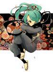 androgynous ayuyu_(baby) blue_hair hair_over_one_eye inazuma_eleven kazemaru_ichirouta male ninja solo