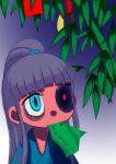 alternate_outfit anorak bamboo drool eating heterochromia ponytail tanabata translation_request yukata zombie_girl