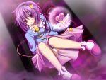 akatuti eyes hairband heart highres komeiji_satori panties purple_eyes purple_hair short_hair touhou underwear violet_eyes wallpaper