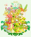 abomasnow arceus bayleef bellossom bellsprout breloom budew bulbasaur cacnea cacturne carnivine celebi cherrim cherubi chikorita closed_eyes cradily exeggcute exeggutor gloom grotle grovyle happy highres hoppip ivysaur jumpluff leaf leafeon lileep lombre lotad ludicolo meganium nintendo no_humans nuzleaf oddish paras parasect plant pokemon pokemon_(creature) pokemon_(game) pokemon_dppt pokemon_gsc pokemon_rgby pokemon_rse red_eyes roselia roserade saliva sceptile seedot shiftry shroomish simple_background skiploom sleeping smile snover sunflora sunkern tangela tangrowth tokiwa_(kitokito) torterra treecko tropius turtwig venusaur victreebel vileplume weepinbell yellow_eyes