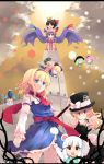 alice_in_wonderland alice_margatroid black_hair blonde_hair blue_eyes bow braid doll green_hair hairband hakurei_reimu hat kirisame_marisa komeiji_koishi komeiji_satori konpaku_youmu konpaku_youmu_(ghost) long_hair patchouli_knowledge purple_hair red_eyes ribbon saigyouji_yuyuko shanghai_doll shin_(new) short_hair silver_hair touhou yellow_eyes yukkuri_shiteitte_ne