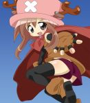 artist_request cape genderswap gloves grey_eyes hat one_piece personification shorts tony_tony_chopper