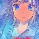 blush face kimi_ni_todoke kuronuma_sawako long_hair makino_(sinobusan) purple_hair tears