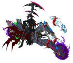 brown_hair cerberus fan_art grim_jr. grim_tales_from_down_below gun hood mechanization motorcycle red_eye scar scythe skeleton skull spawn weapon