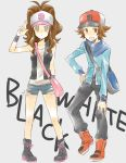 bad_id baseball_cap brown_hair hat pokemon pokemon_(game) pokemon_black_and_white pokemon_bw ponytail touko_(pokemon) touya_(pokemon)