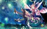 animal_ears dress hat highres mystia_lorelei pantyhose pink_hair short_hair solo touhou wallpaper wings yoshino_ryou