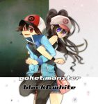 1boy 1girl bad_id bag baseball_cap blue_eyes brown_hair creatures_(company) game_freak hat locked_arms love nintendo olm_digital pokemon pokemon_(anime) pokemon_(game) pokemon_black_and_white pokemon_bw ponytail red_eyes sato_(sa10cho) touko_(pokemon) touya_(pokemon) zipper