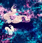 bikini_top black_rock_shooter black_rock_shooter_(character) black_rock_shooter_(cosplay) blue_eyes boots breasts brown_hair code_geass cosplay flat_chest hair_ribbon jacket long_hair midriff nunnally_lamperouge open_eyes purple_eyes ribbon sheath shorts solo sword twintails violet_eyes weapon yuzuki_(mona)
