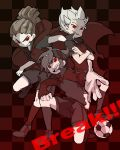 3boys cape dreadlocks endou_mamoru evil gouenji_shuuya hands inazuma_eleven kidou_yuuto male red_eyes