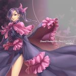 dress hair_ribbon moira mu_(sound_horizon) purple_eyes purple_hair ribbon side_ponytail solo sound_horizon violet_eyes yeruen