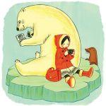 bag bear camera ice nintendo_ds parka playstation_portable polar_bear psp purse seal stylus whiskers