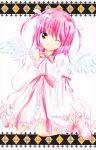 hinamori_amu peach-pit pink_hair ribbon shugo_chara! tagme twintails wings wink yellow_eyes