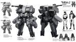 armor cannon concept_art gun gunpod helmet highres mecha military military_uniform original pilot pilot_suit ukitakumuki uniform white