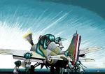 aircraft_carrier airplane grumman_martlet hatsune_miku historical_event hms_audacity royal_navy rxjx twintails vocaloid world_war_ii