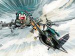 aerial_battle airplane battle fw_200 grumman_martlet hatsune_miku historical_event royal_navy rxjx twintails vocaloid world_war_ii