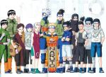 aburame_shino akatsuki_(naruto) black_hair blonde_hair blue_hair bondage book cloak dress fishnets gaara grey_hair haruno_sakura hatake_kakashi hyuuga_hinata hyuuga_neji jinchuuriki kishimoto_masashi long_hair maito_gai nara_shikamaru naruto pink_hair red_hair rock_lee sandals scar scroll short_hair shorts spiky_hair thick_eyebrows uchiha_itachi uchiha_sasuke umino_iruka uzumaki_naruto