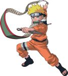 blonde_hair blue_eyes jinchuuriki jumpsuit kunai male naruto sandals scroll simple_background solo spiky_hair uzumaki_naruto vector white_background